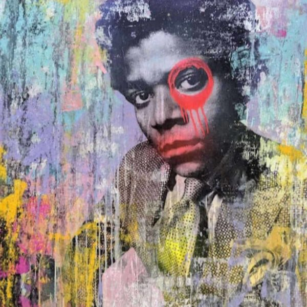Dain Nyc Bossy di Basquiat 100 x 100cm available at Zebra One Gallery