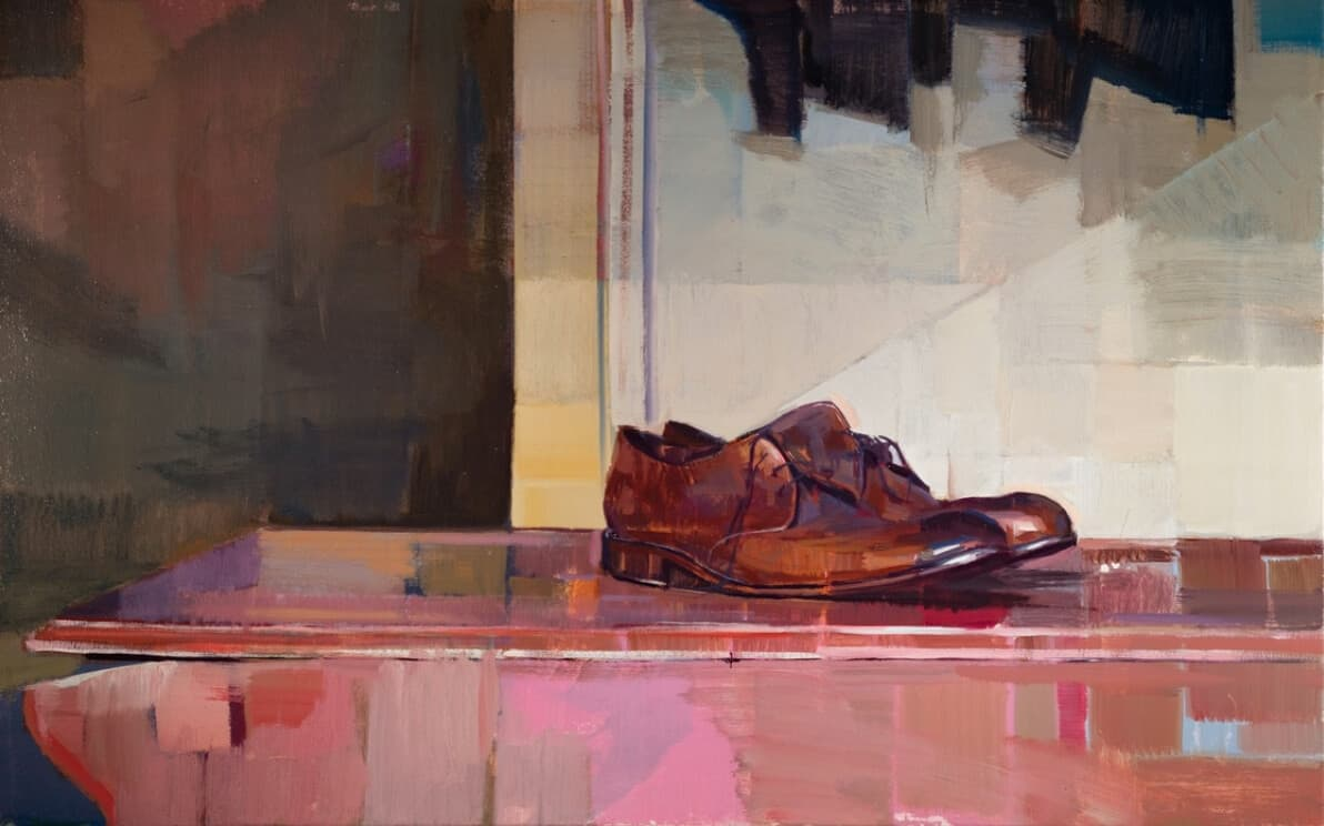 Brown Shoes by Hiroshi Sato at zebra one gallery