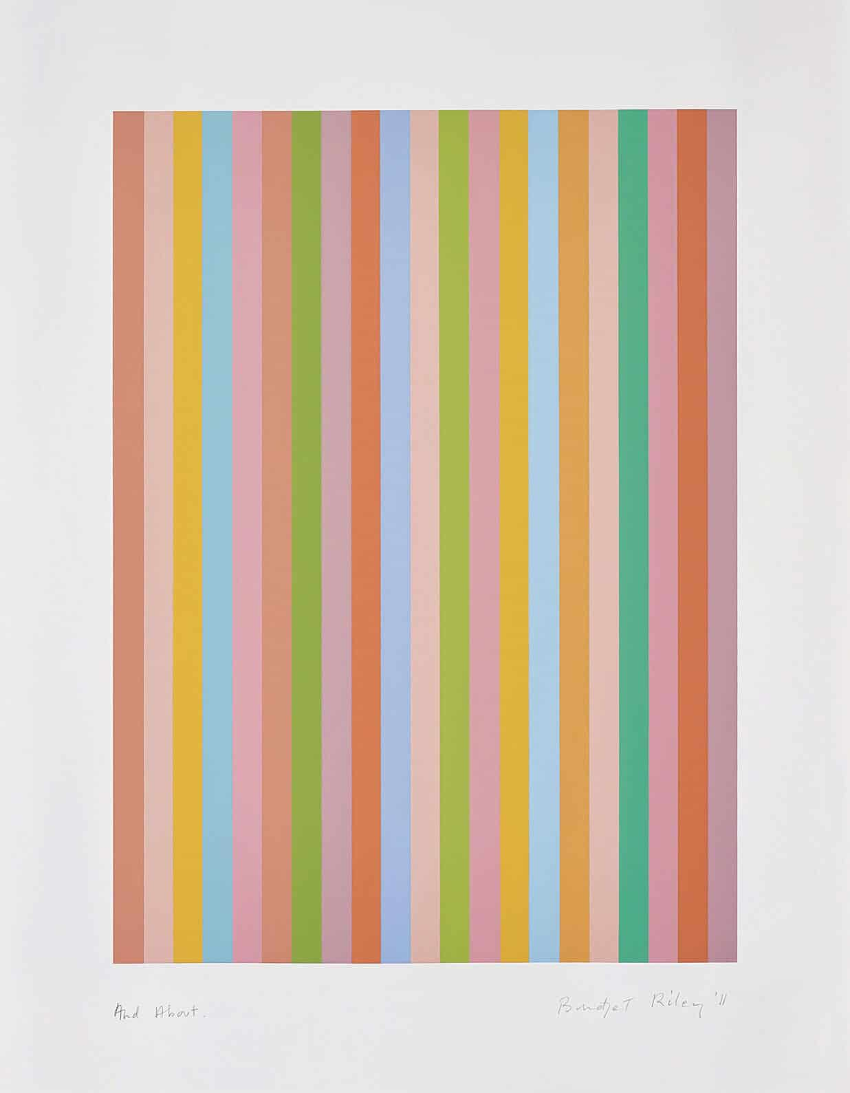 Bridget Riley at Zebra One Gallery