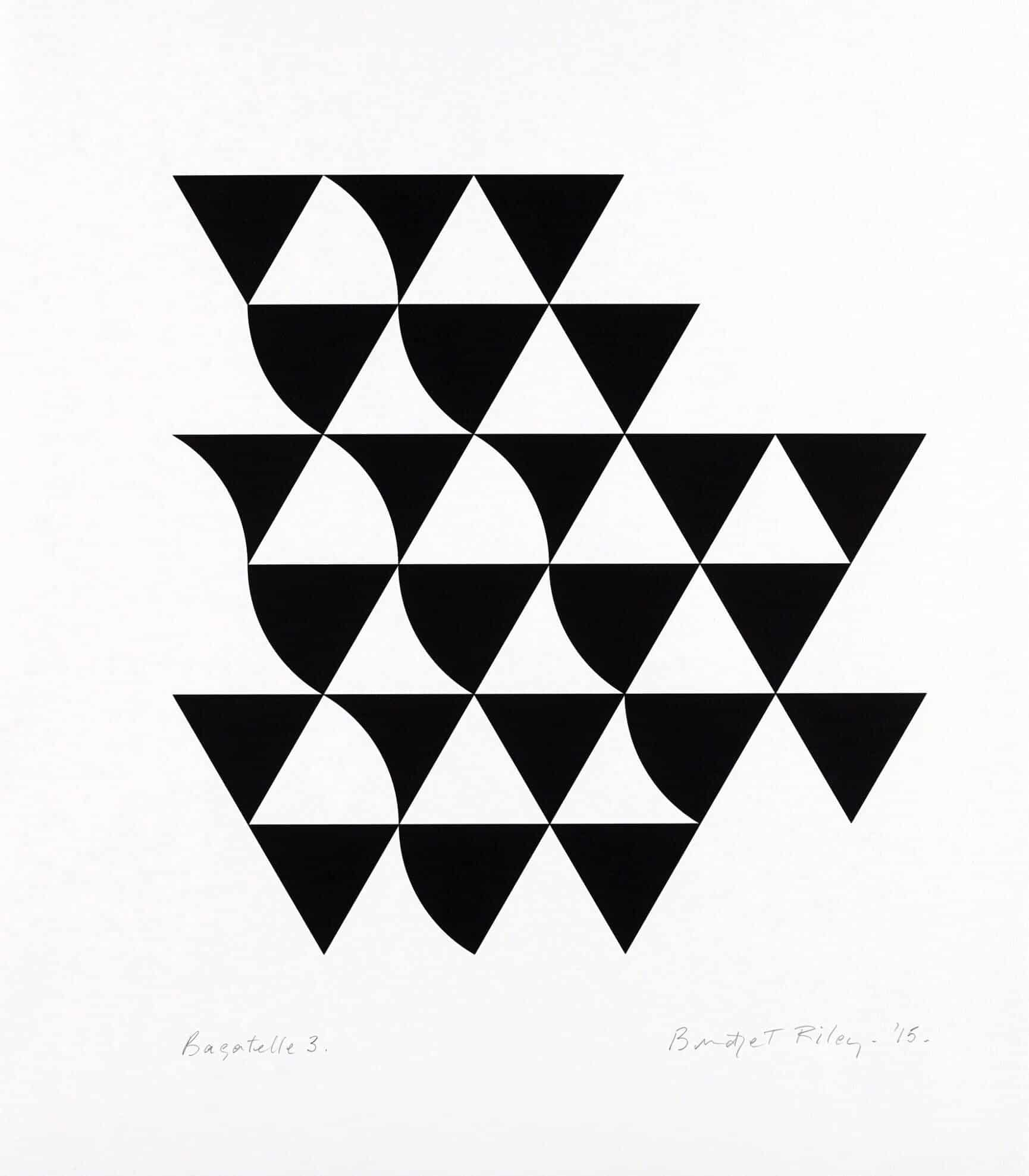 bridget riley bagatelle sold at zebra one gallery