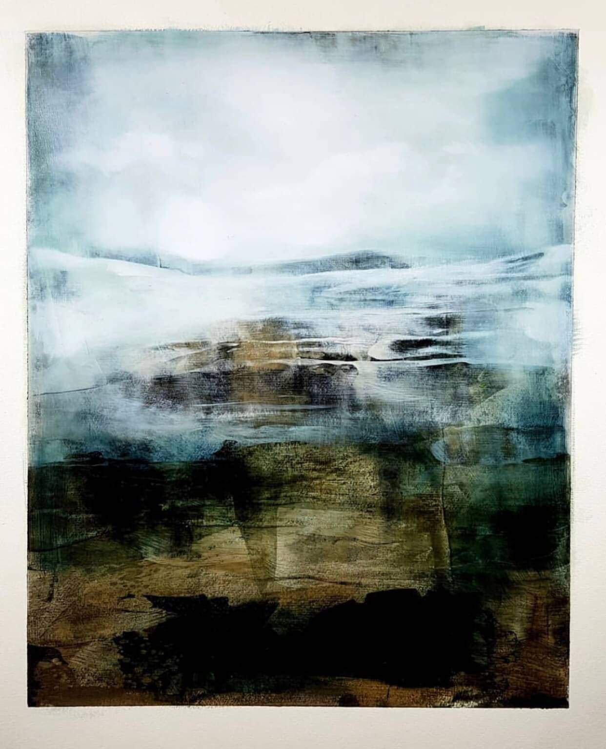 JOACHIM VAN DER VLUGT UNTITLED ABSTRACT LANDSCAPES AT ZEBRA ONE GALLERY
