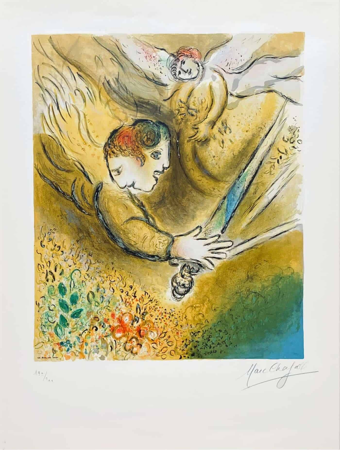 after Marc Chagall - L' ange du jugement at zebra one gallery