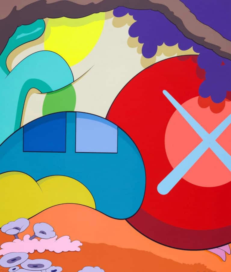 Kaws at zebra one gallery