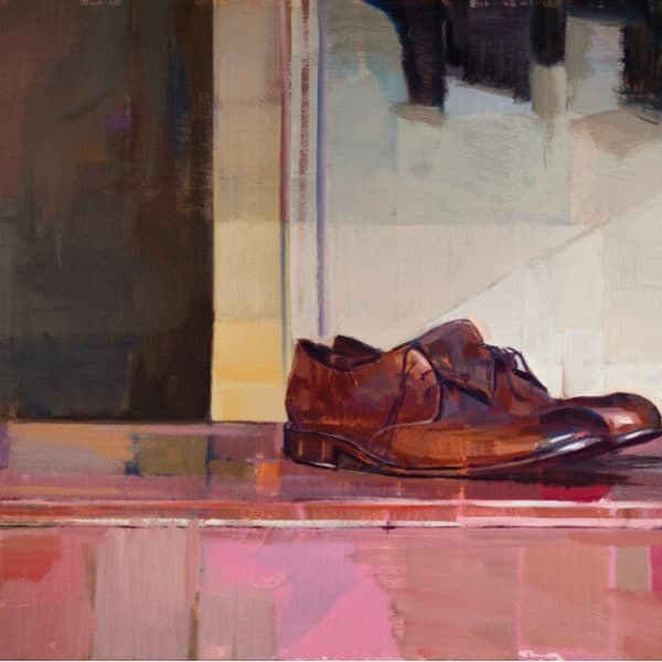 Hiroshi Sato - Brown Shoes available at Zebra One Gallery