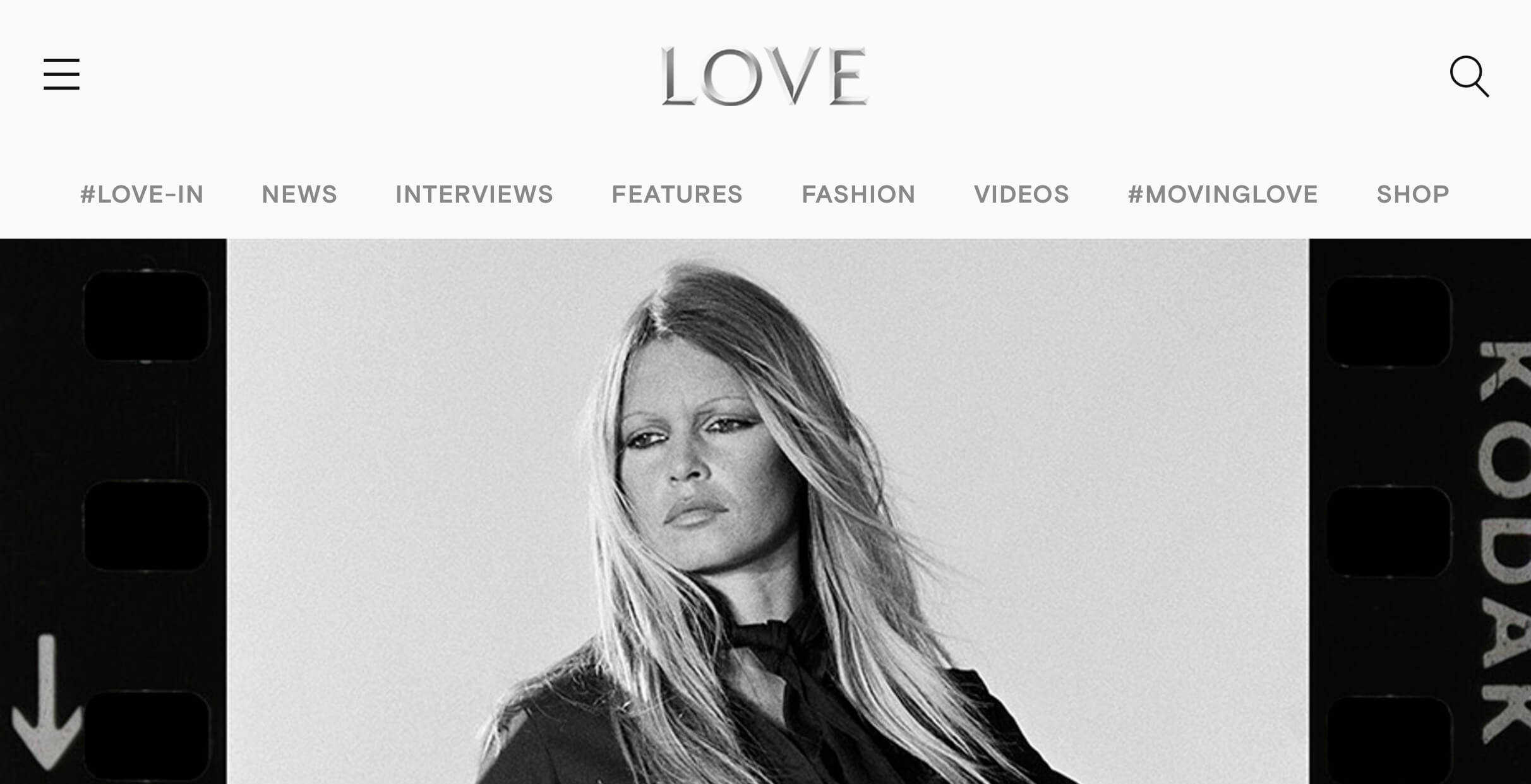 Love magazine interview with Gabrielle du plooy