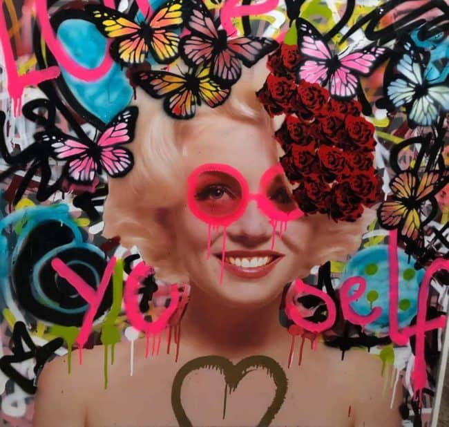 Love Yourself by Dom Pattinson available at Zebra One Gallery
