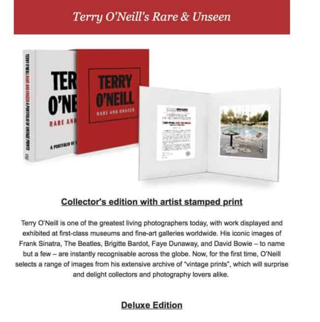 Rare and Unseen this book is available at Zebra One Gallery