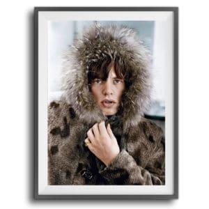 Terry O'Neill Mick Jagger Colourised at Zebra One Gallery