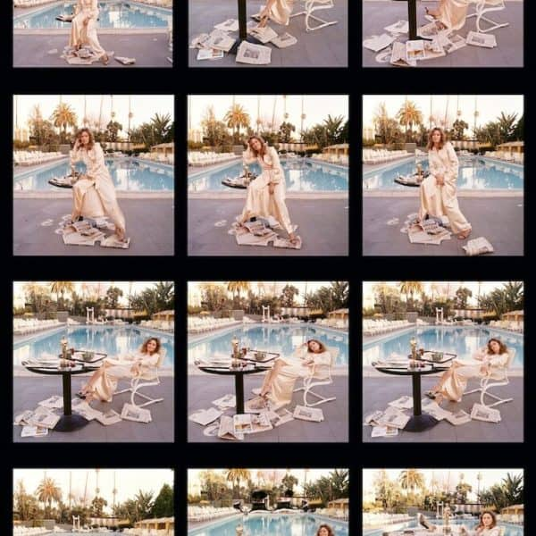 Terry O'Neill Faye Dunaway contact sheet