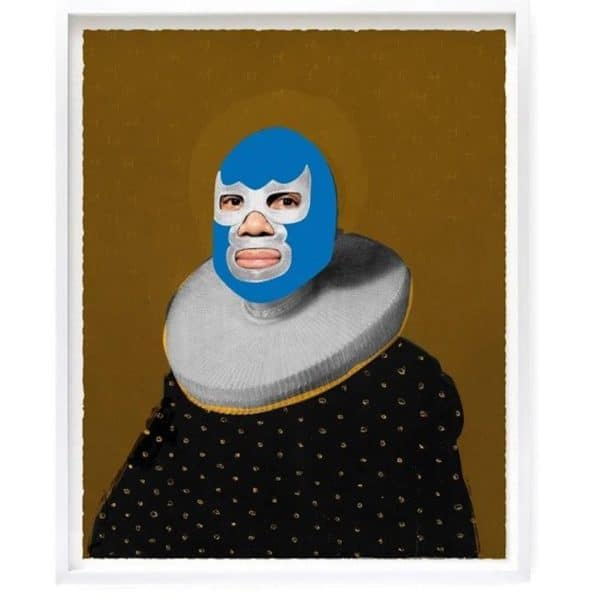 Heath Kane portrait of heroes -Blue devil at zebra one gallery