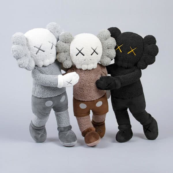 Kaws holiday plush companion available at zebra one gallery