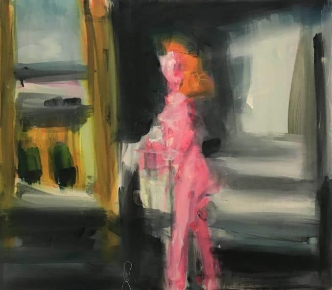 Karen Thomas Morning in the City after Hopper at Zebra One Gallery