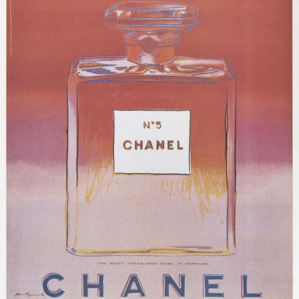 Andy warhol chanel ads at zebra one gallery