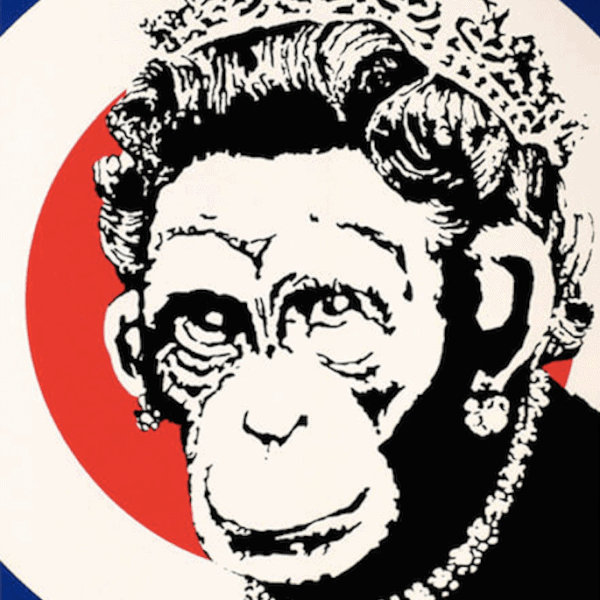 Banksy Monkey Queen ed 750 Unsigned at zebra one gallery