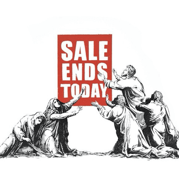 Banksy Sale Ends v2 2017 at zebra one gallery