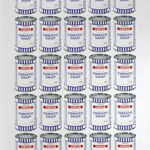 Banksy Soup Cans Poster at Zebra One Gallery