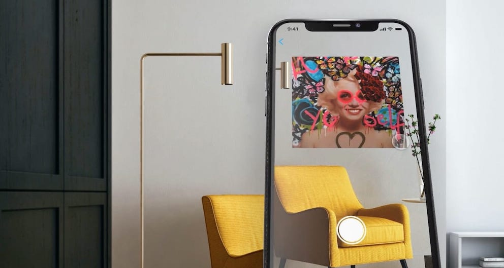 augmented reality art gallery app at zebra one gallery
