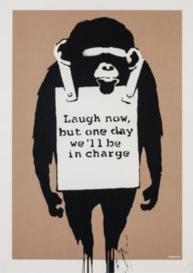 Banksy Laugh Now / Unsigned available at Zebra One