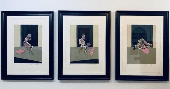 Francis Bacon Triptych August 1972 available at Zebra One Gallery
