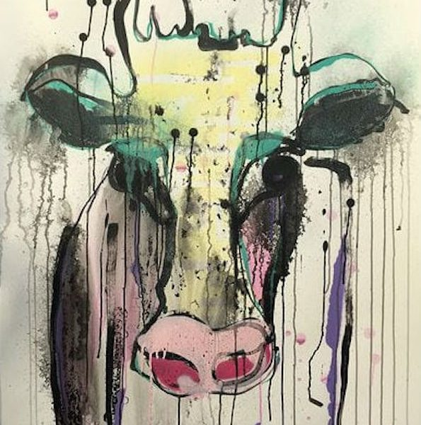 Lucie Flynn The Cow Series at Zebra One Gallery