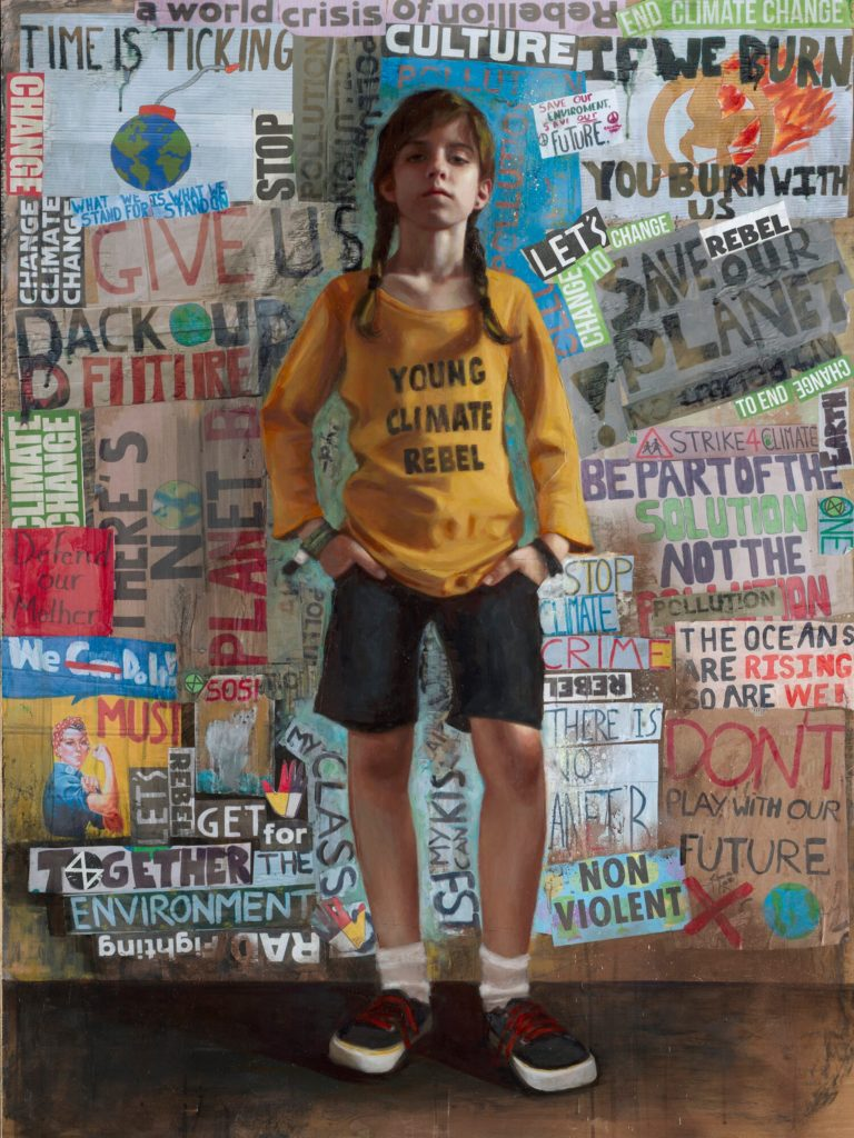 Rosso Young Climate Rebel painting