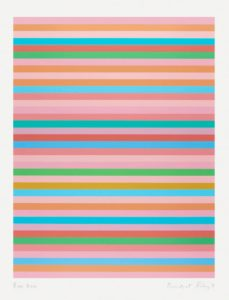 Bridget Riley print Rose Rose at zebra one gallery