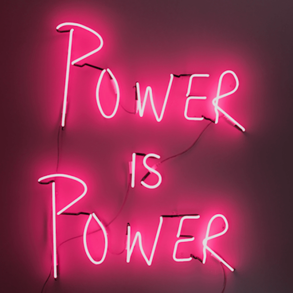 Eve de Haan power is power print for charity
