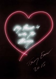 My Heart is With You Always Tracey emin at Zebra One Gallery