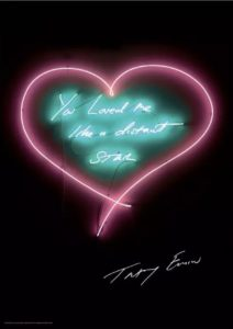 Sold, You Loved Me Like A distant Star Tracey Emin at Zebra One Gallery
