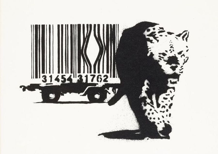 Banksy Barcode 2004 unsigned at zebra one gallery