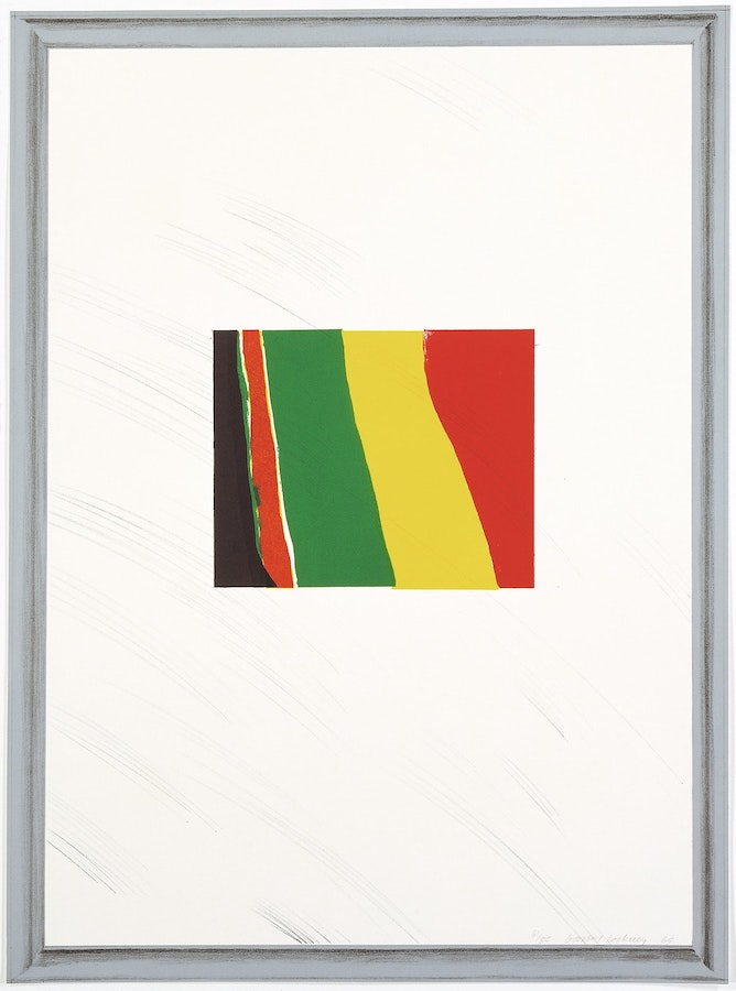 A Pointless Abstraction Framed under Glass at Zebra One Gallery available